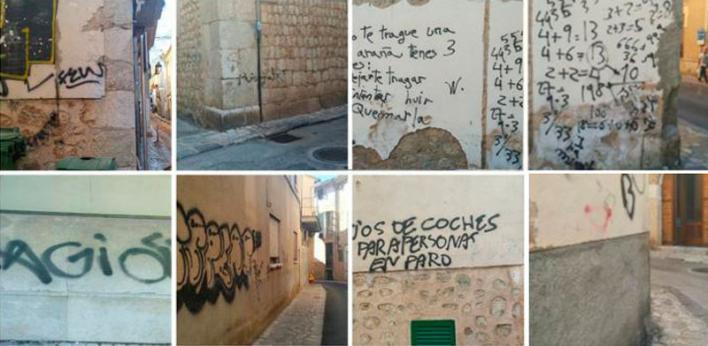 La lacra de los graffitis se extiende por los municipios de Mallorca