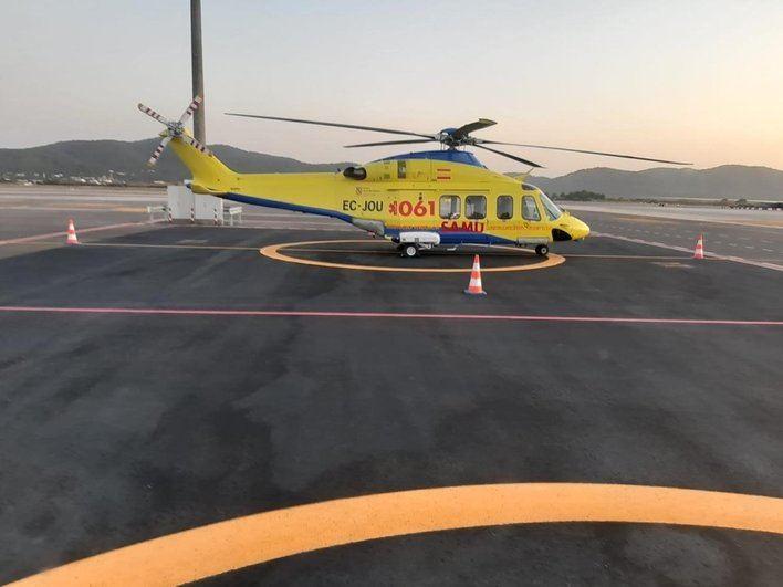 Evacuado en helicóptero hasta Son Espases en estado crítico tras sufrir un paro cardiaco en un crucero