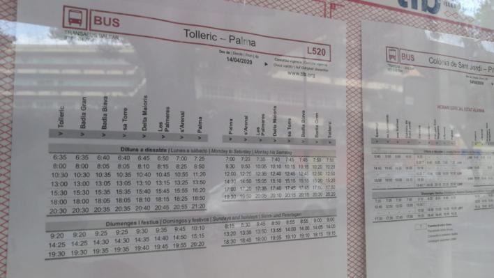 El TIB amplía frecuencias pero no cambia los horarios en las paradas