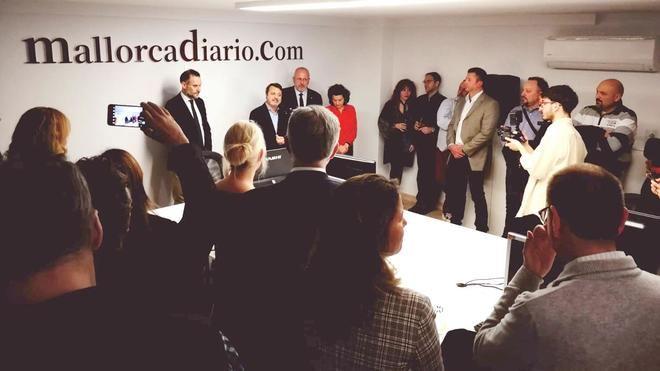 Autoridades y sociedad civil arropan a mallorcadiario.com en su nueva sede