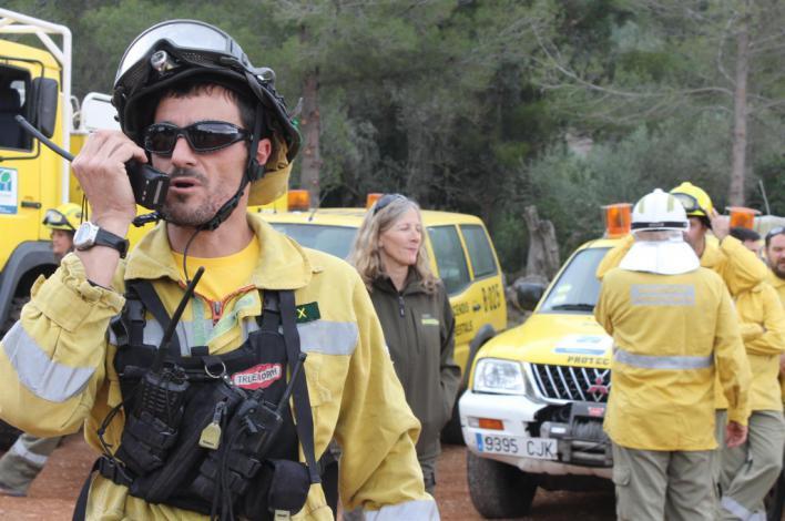 Incendio forestal en Es Puntiró