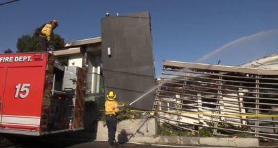 Los fuertes vientos amenazan con extender los incendios de California
