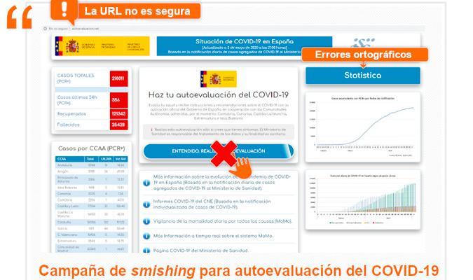 La última amenaza cibernética: un SMS con un supuesto test de coronavirus