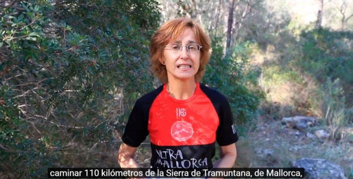 Desde Andratx a Pollença a pie: el reto de Magdalena para recaudar fondos contra el cáncer