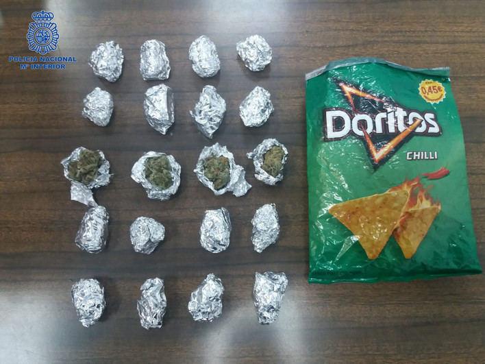 Un detenido en Son Gotleu por vender marihuana en bolsas de doritos