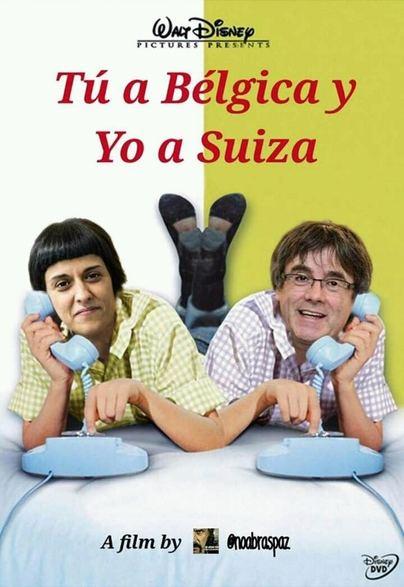 Puigdemont y Gabriel, estrellas Disney en Tú a Bélgica y yo a Suiza