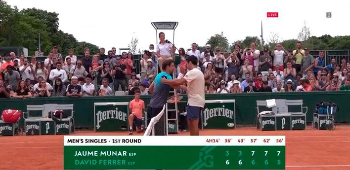 Munar se impone a Ferrer en cinco sets en primera ronda de Roland Garros