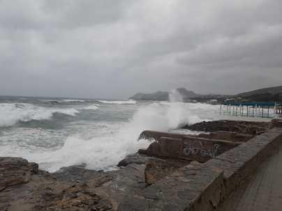Cala Ratjada y Pollença, entre las zonas costeras en alerta amarilla por fuertes vientos