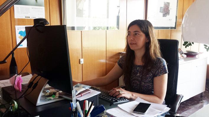La regidora, en su despacho