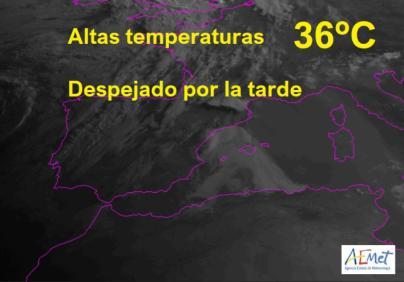 Una extensa nube cubre Mallorca y reduce la visibilidad