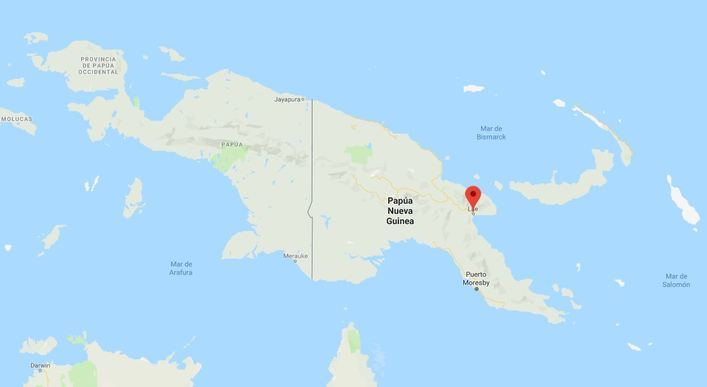 Un terremoto de magnitud 7,2 sacude el este de Papúa Nueva Guinea