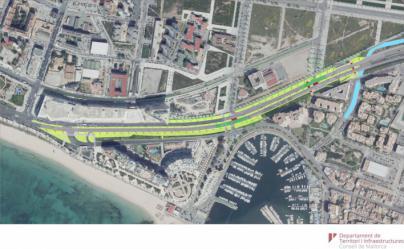 Cierran el carril de la autopista del aeropuerto a la salida de Palma