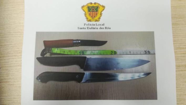 Pelea de okupas con navajas y cuchillos en Ibiza