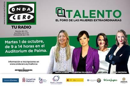 Onda Cero Mallorca organiza su primer Foro con el talento femenino como protagonista