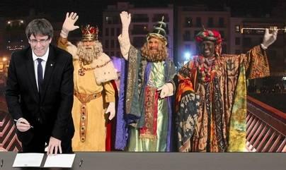 Puigdemont otorga la nacionalidad a los Reyes Magos para 'que lleven los regalos a los niños de Cataluña'