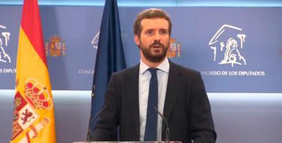 Casado sobre Sánchez: 'España no tiene a nadie al timón'