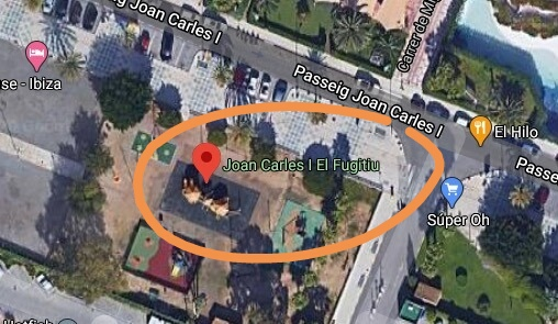 Parque de 'Joan Carles I, El Fugitiu' en Ibiza, según Google Maps