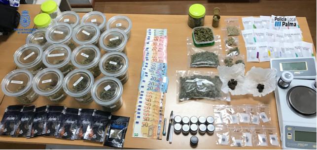Desarticulados dos puntos de venta de droga en supuestos clubs de cannabis de Portals Nous y Santa Ponça