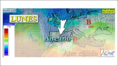 El invierno de verdad llegará a Mallorca el lunes con lluvia y desplome de los termómetros