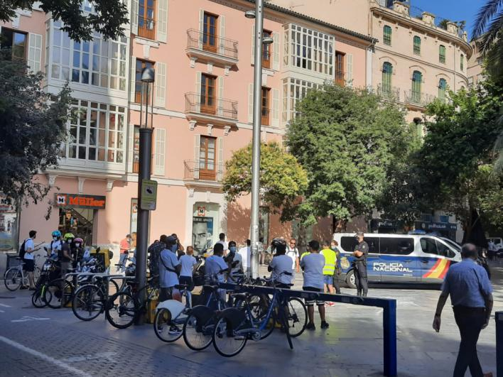 Los riders protestan en Palma