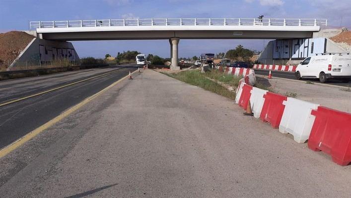 Cerrado el tráfico en un tramo de la autopista de Inca este martes por la noche