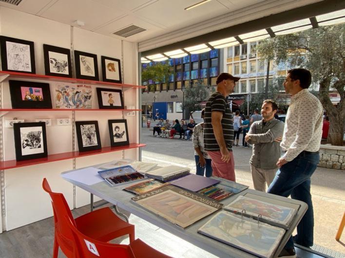 La asociación cultural Arte&Cómics ocupa el 'Quiosc' de PalmaActiva durante dos semanas