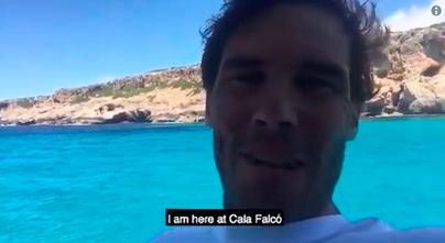 Nadal invita a sus seguidores a visitar las playas de España,