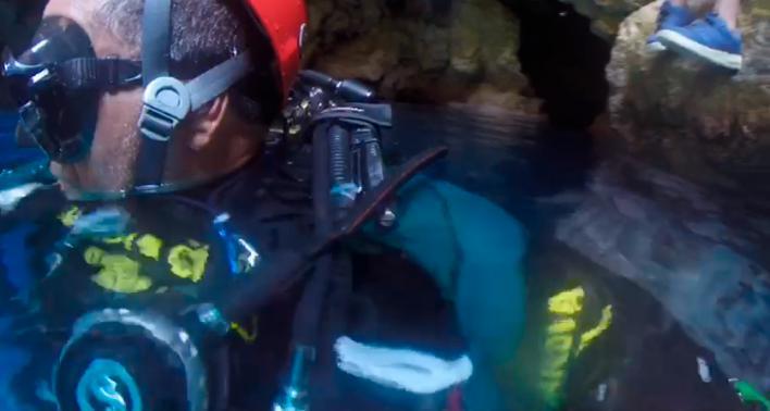 Rescatado un joven de 17 años tras caer en una cueva de Ibiza