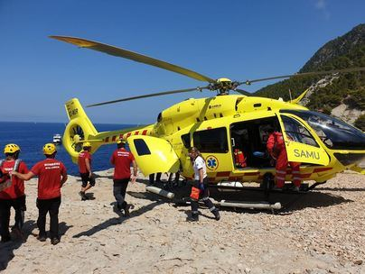 Herido grave tras tirarse al mar desde una altura de 15 metros en Banyalbufar