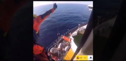 Espectacular evacuación de Salvamento Marítimo en Formentera