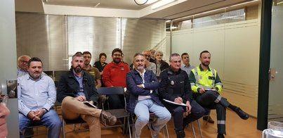 Los responsables de emergencias se reúnen con el 112 para coordinar el dispositivo frente al temporal
