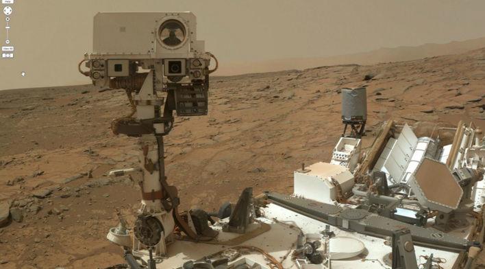 El rover Curiosity se hace un 'selfie' en Marte