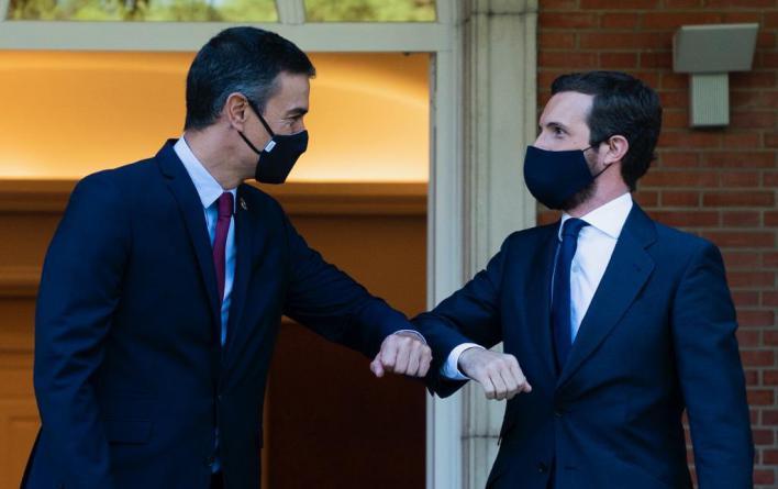Casado advierte a Sánchez que no negociará unas cuentas con Podemos en el Gobierno
