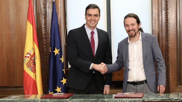 PSOE y Podemos subirán los impuestos a los ricos y derogarán la reforma laboral del PP