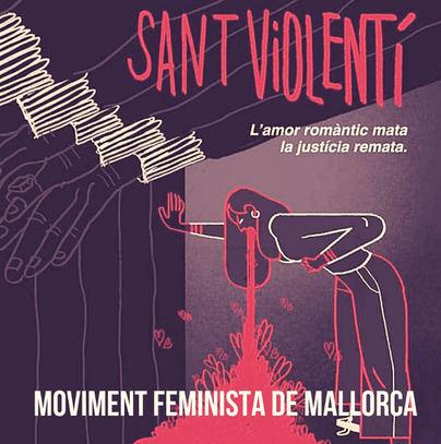 Cargos de Més arremeten contra 'Sant Violentí': 'El amor romántico mata'