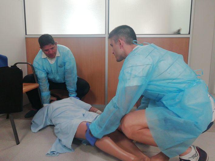 15 personas en paro se forman sobre atención sanitaria a múltiples víctimas y catástrofes