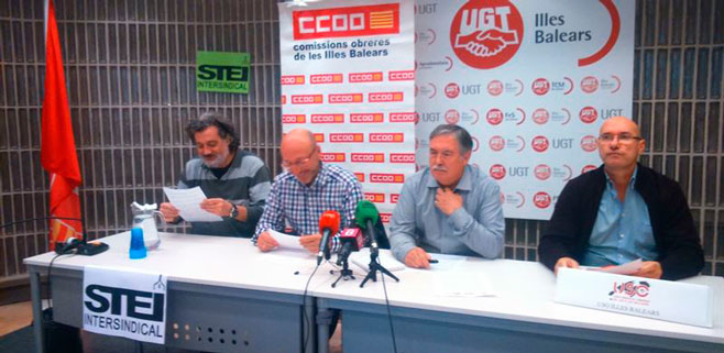 Los sindicatos de Balears exigen la derogaci�n de la reforma laboral