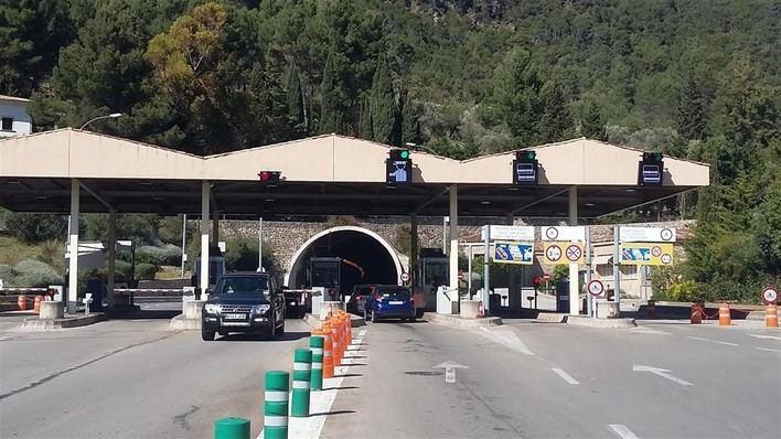 El túnel de Sóller en dirección Palma permanecerá cerrado por las noches hasta este sábado