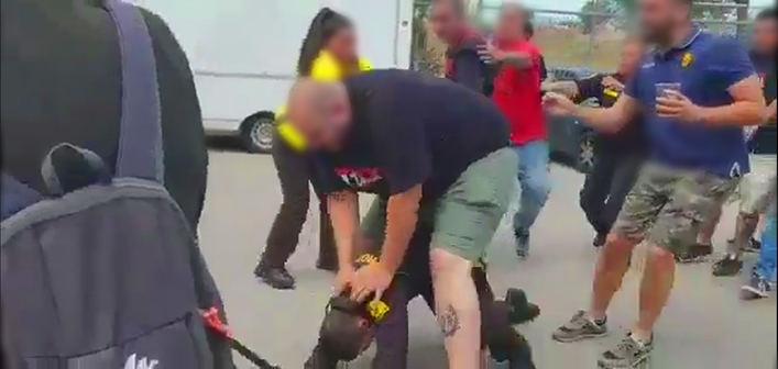 Un vigilante de seguridad denuncia la brutal paliza de unos ultras en Son Moix
