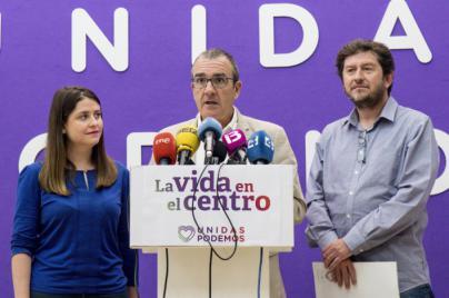 'La vida en el centro', eslogan de Unidas Podemos
