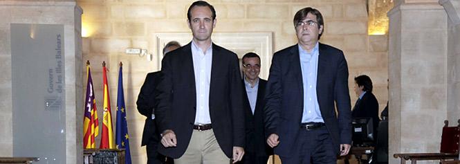 Bauzá y Antich defenderán juntos los intereses de Baleares