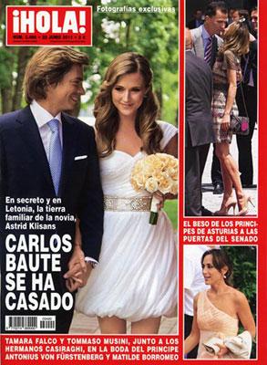 Carlos Baute mantiene su boda religiosa en Mallorca