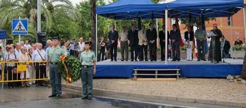 Homenaje a los guardias civiles asesinados en Calviá