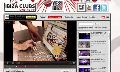 You Tube retransmite en directo las mejores sesiones de las discotecas ibicencas
