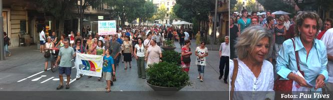 Cort reabre parte de Blanquerna y unos 200 manifestantes lo reprueban
