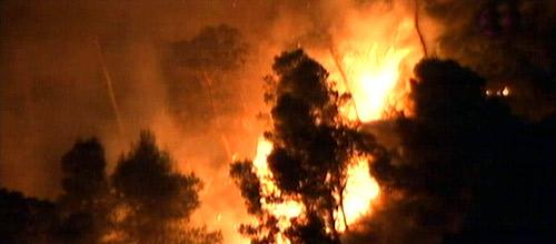 El Ibanat da por controlado el incendio de la Costa d'en Blanes