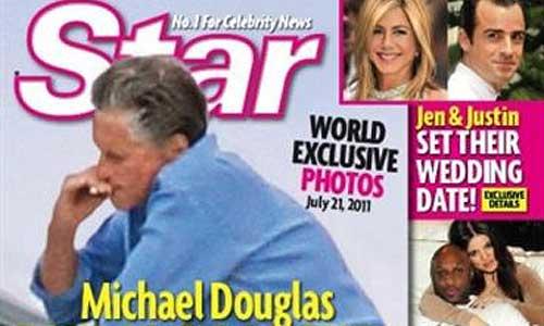 Douglas, fumando en plena lucha por la vida