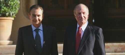 El Rey recibirá a Zapatero el 1 de agosto en el Palacio de Marivent