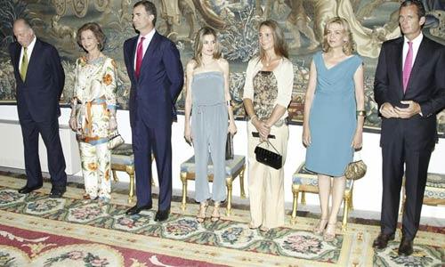 La Familia Real, con el Papa