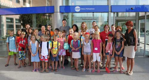 La Palmaplanas realiza un chequeo a 23 niños rusos acogidos en Mallorca